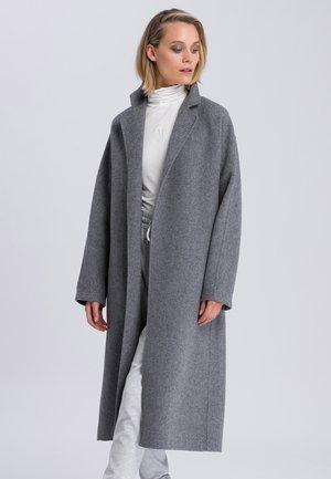 Classic coat - light grey melange varied
