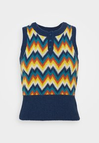 TANK - Basic T-shirt - chevron navy