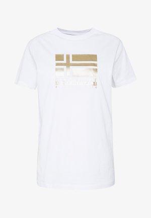 SHYAMOLI - Camiseta estampada - bright white