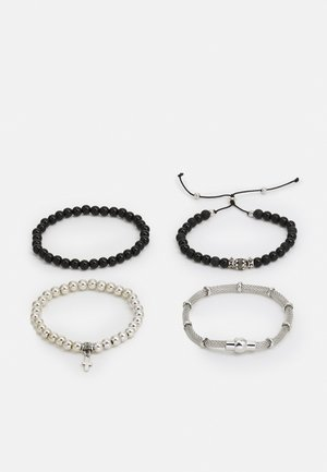 MIXED CHAIN AND BEAD 4 PACK - Bracelet - black