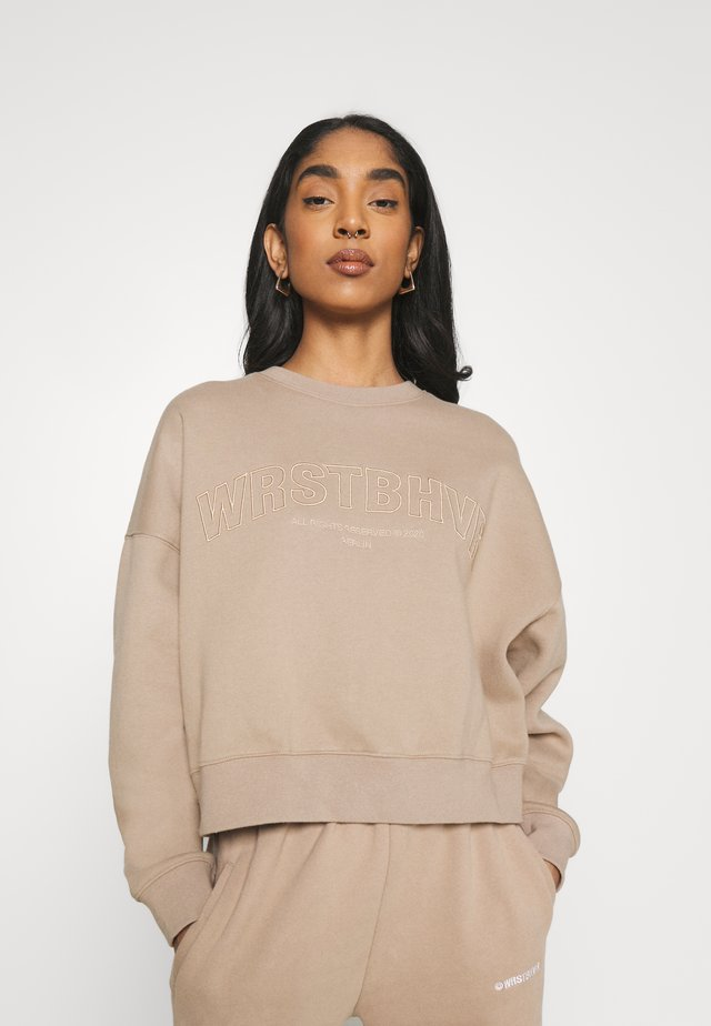 GINGER SWEATER - Collegepaita - roasted beige