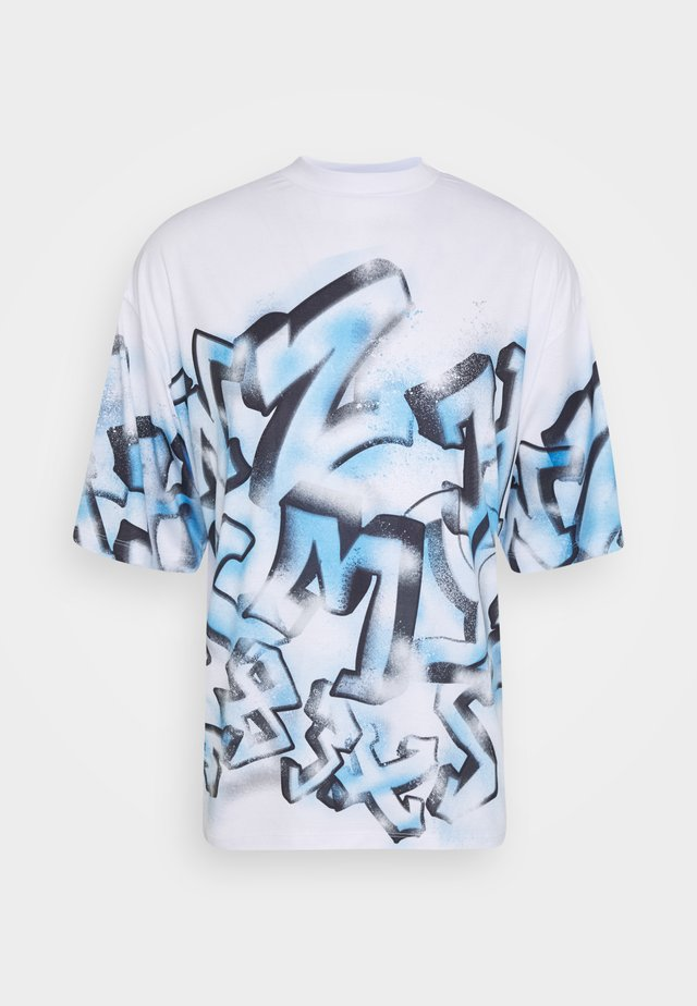 GRAFFITI TEE - T-shirt imprimé - white