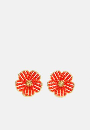 FLOWER STATEMENT STUDS - Earrings - coral