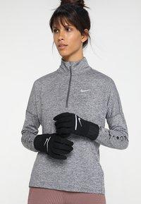 Nike Performance - HEATHERED SPHERE RUNNING GLOVES - Fingervantar - black/silver - 1