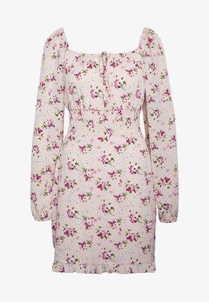 WAIST MINI DRESS - Denní šaty - pink