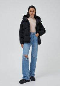 PULL&BEAR - Down jacket - black - 1