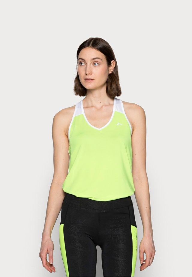 ONPAMBRE TRAINING - Top - safety yellow/white/black