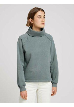 MIT ROLLKRAGEN - Sweatshirt - grey mint