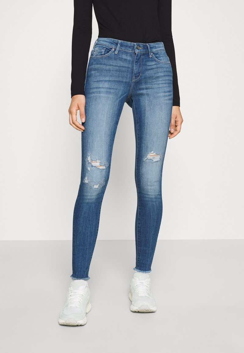 ONLY - ONLCARMEN RAW - Jeans Skinny Fit - medium blue denim