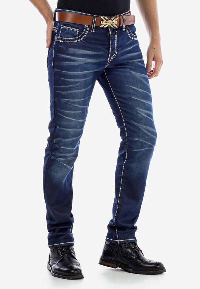 MIT SCHARFEN  - Slim fit jeans - darkblue