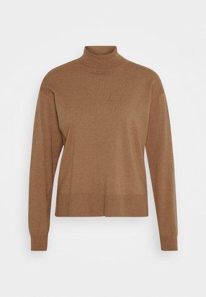 ROLL NECK- LOOSE FIT - Svetr - mottled brown