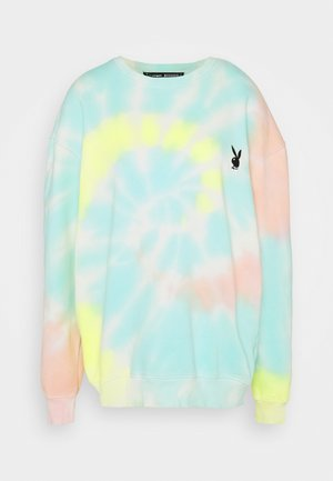 PLAYBOY TIE DYE OVERSIZED CREW  - Sweatshirt - multi