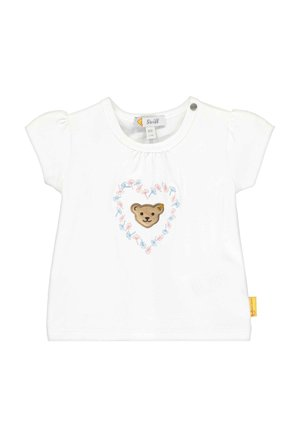 STEIFF COLLECTION T-SHIRT MIT BLÜTENMOTIVE - Print T-shirt - bright white