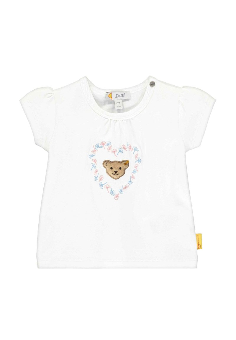 Steiff Collection - STEIFF COLLECTION T-SHIRT MIT BLÜTENMOTIVE - Print T-shirt - bright white