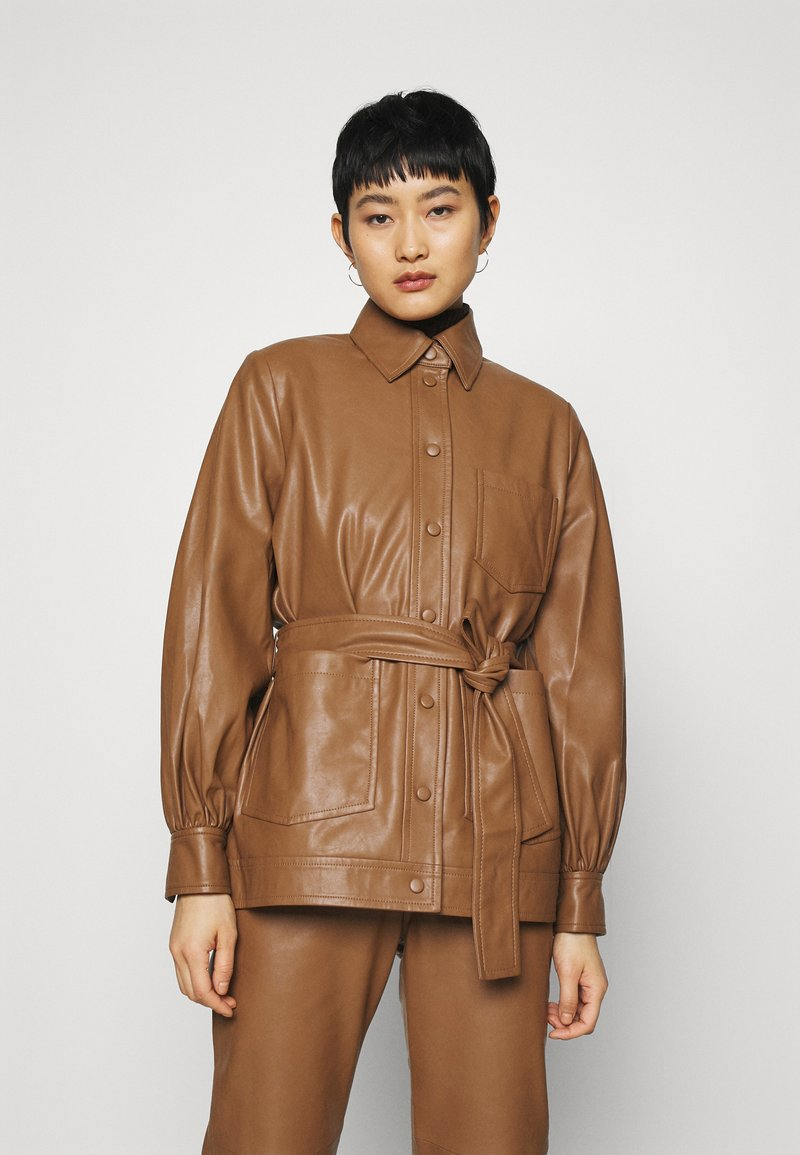 Samsøe Samsøe - VESTINE JACKET  - Faux leather jacket - camel