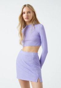 PULL&BEAR - A-line skirt - purple - 3
