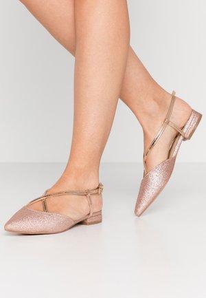 LEYA - Sandaalit nilkkaremmillä - rose gold