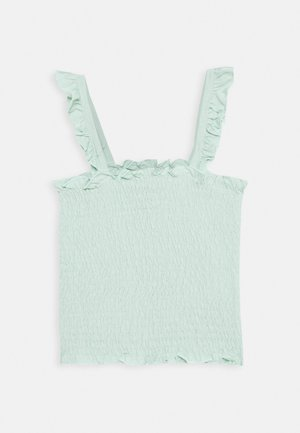 SHIRRED FRILL - Top - mint
