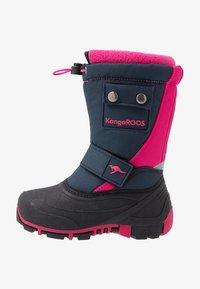 KangaROOS - BEAN II - Śniegowce - dark navy/daisy pink - 1