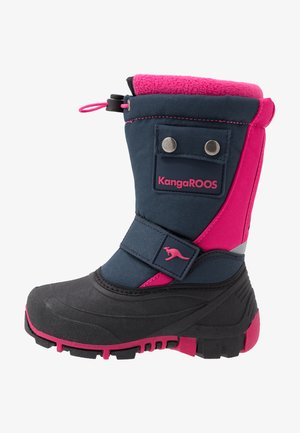 BEAN II - Winter boots - dark navy/daisy pink