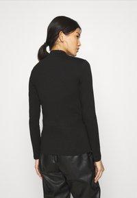 Anna Field - 2 PACK - Camiseta de manga larga - black/mottled light grey - 2