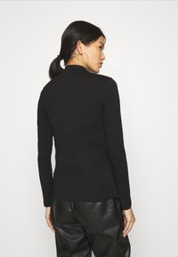 Anna Field - 2 PACK - T-shirt à manches longues - black/mottled light grey - 2