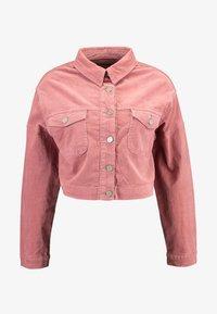 Missguided - RAW HEM JACKET - Veste en jean - pink - 4