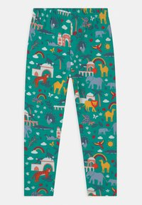 Frugi - LIBBY PRINTED ANIMALS - Leggings - Trousers - green - 1