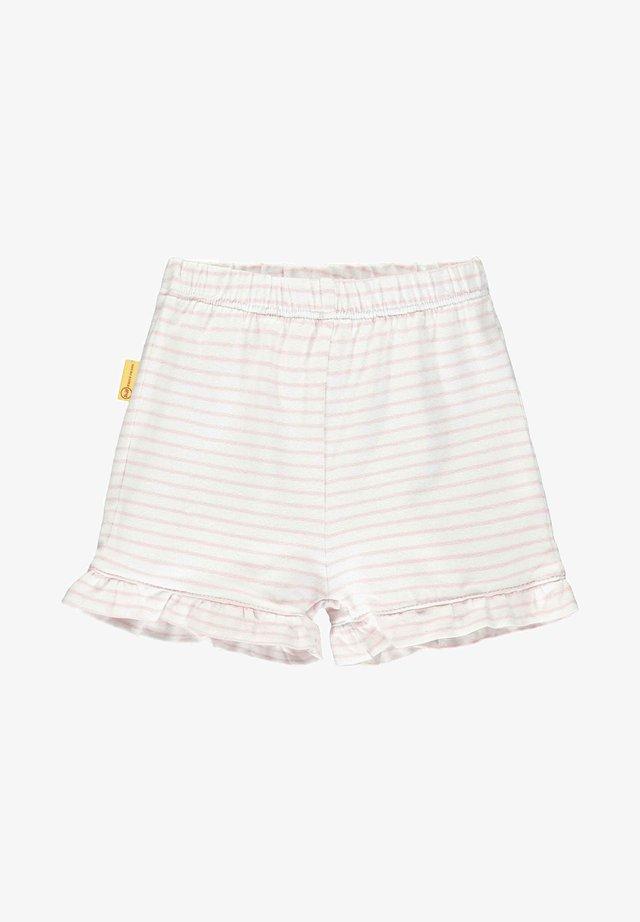 MIT TEDDYBÄRMOTIV AN DER TASCHE - Shorts - pink lady