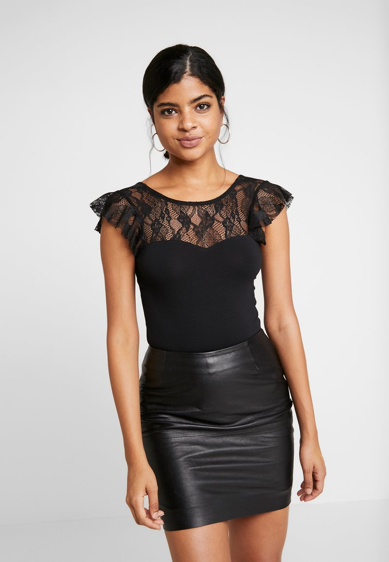 Vero Moda - VMSALLY BODYSUIT - Print T-shirt - black