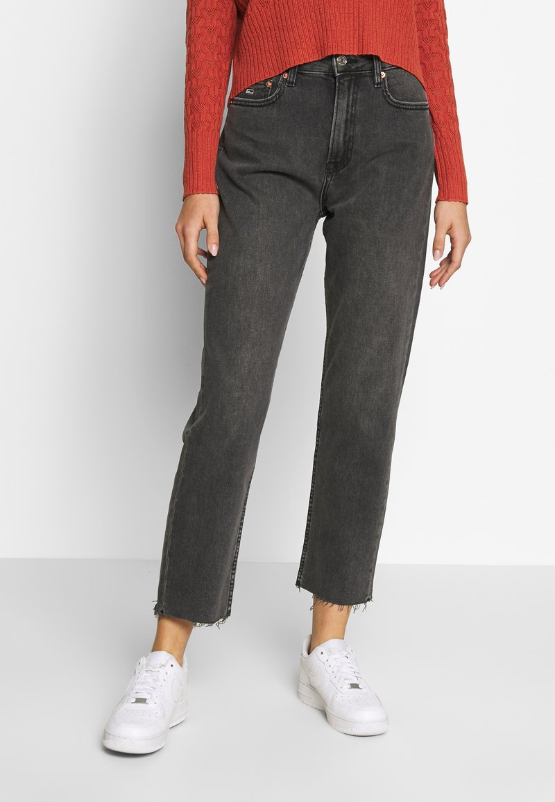 Tommy Jeans - HARPER - Straight leg jeans - black denim