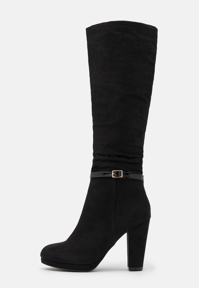 DEENA PLATFORM - High heeled boots - black