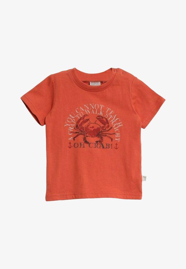 Print T-shirt - wood
