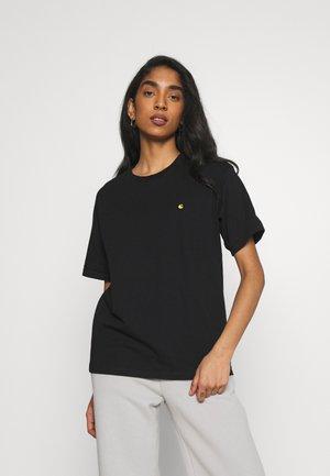 CHASE - Basic T-shirt - black/gold