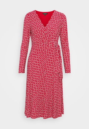 PRINTED MATTE DRESS - Jerseyklänning - orient red