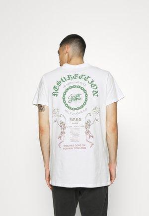 SKULL RESURECTION  - Print T-shirt - offwhite