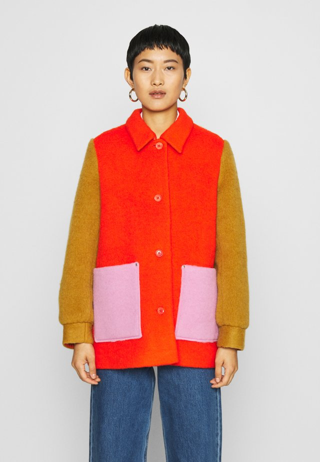COSTANNA - Short coat - multi/red