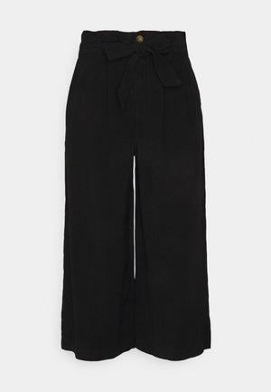 ONLAMINTA ARIS LIFE CULOT - Trousers - black