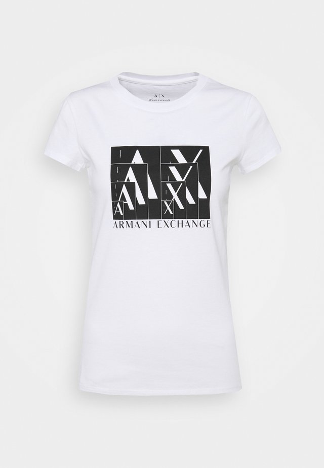 Camiseta estampada - optic white