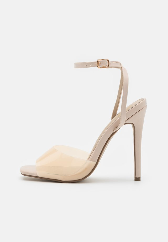 CLEAR DETAIL ANKLE STRAP - Sandalen - cream