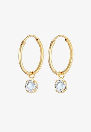 CREOLEN SOLITÄR - Earrings - gold
