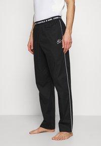 KARL LAGERFELD - SINGLE PANTS - Pyžamový spodní díl - black - 0