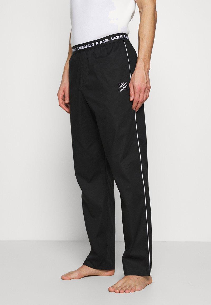 KARL LAGERFELD - SINGLE PANTS - Pyžamový spodní díl - black