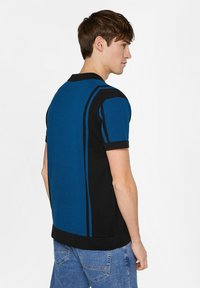 WE Fashion - WE FASHION HEREN FIJNGEBREIDE POLOTRUI - Shirt - dark blue - 2