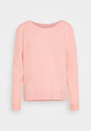 LONG SLEEVE ROUND NECK PRINT AT BACK - Sweatshirt - rose cream