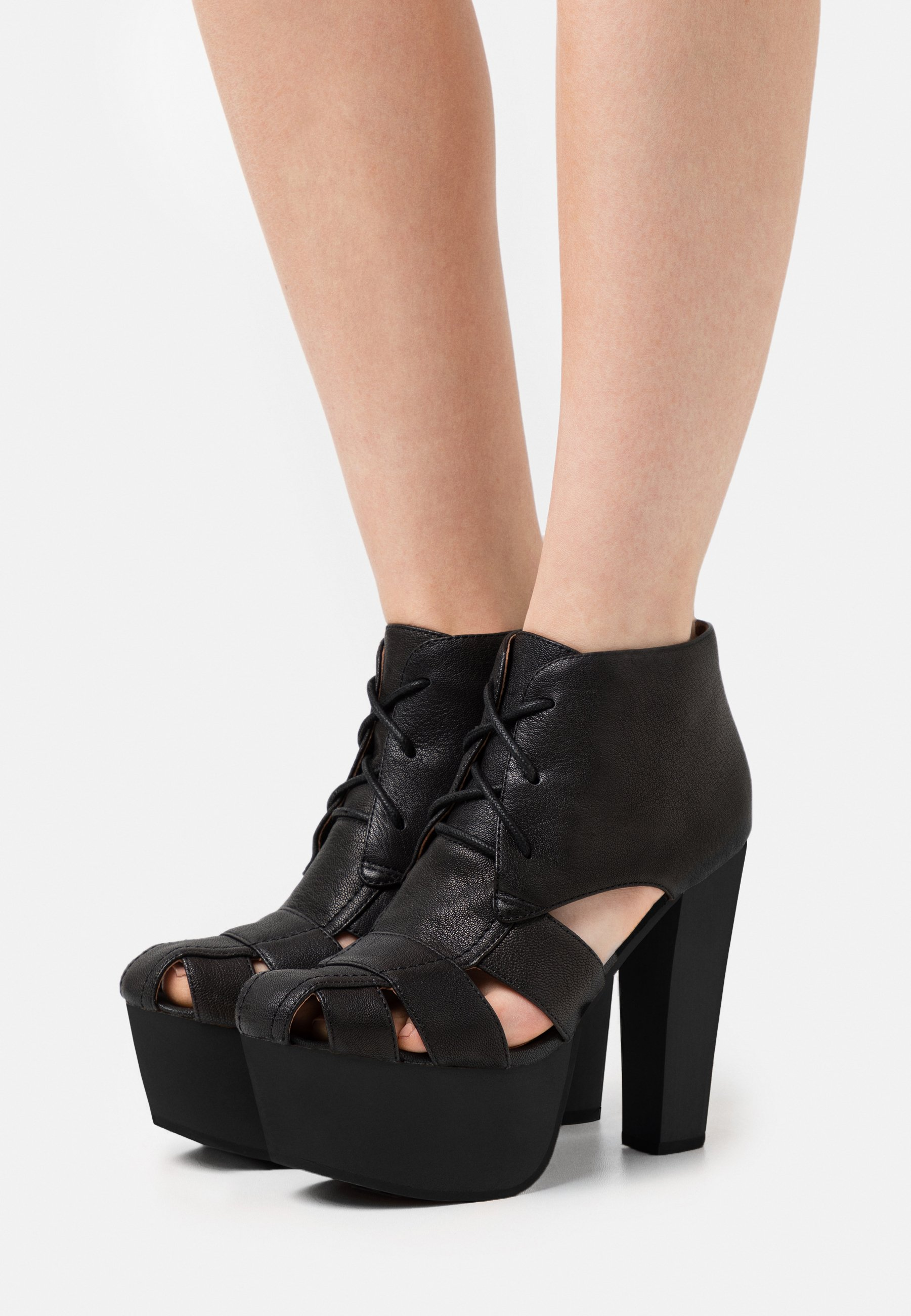 Women FORD - Lace-up ankle boots - black