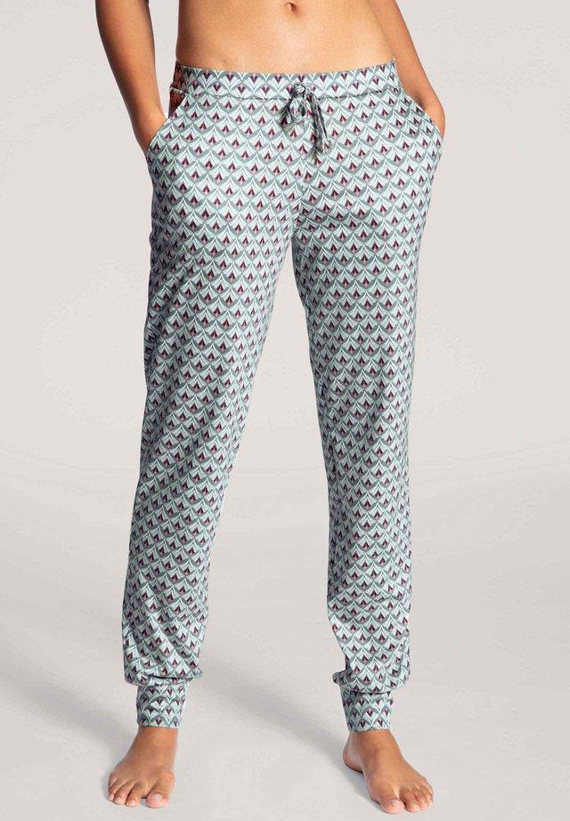 PANTS MIT BÜNDCHEN - Pyjama bottoms - eucalyptus