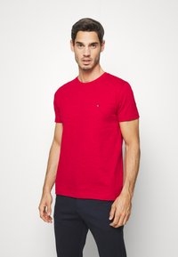 Tommy Hilfiger - SLUB TEE - T-shirt basic - red - 0
