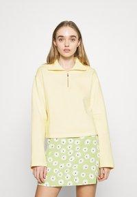 NA-KD - HALF ZIP UP - Sweatshirt - yellow - 0