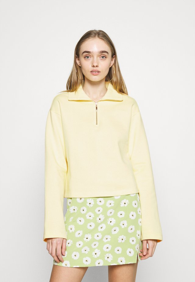 HALF ZIP UP - Mikina - yellow